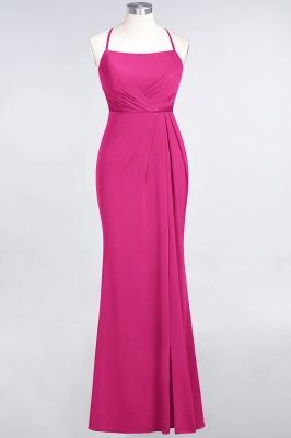 Mermaid Spaghetti-Straps Sleeveless Floor-Length spandex Lace Bridesmaid Dress with Ruffle_8