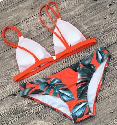 Colorful Prints Triangle Pads Bikini Sets_12