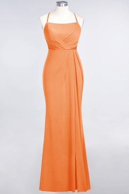 Mermaid Spaghetti-Straps Sleeveless Floor-Length spandex Lace Bridesmaid Dress with Ruffle_14