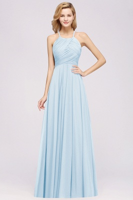 A-Line  Halter Ruffles Floor-Length Bridesmaid Dress_22