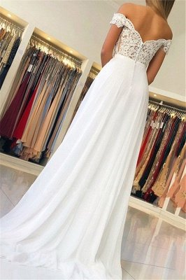 Elegant Off-The-Shoulder Appliques A-Line Wedding Dresses_2