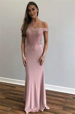 Glamorous Off-The-Shoulder Appliques Sexy Mermaid Prom Dresses