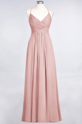 A-Line Spaghetti-Straps V-Neck Sleeveless Floor-Length  Bridesmaid Dress with Ruffles_6