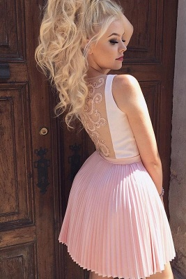 Straps V-Neck Ruffles Short Homecoming Dress_2