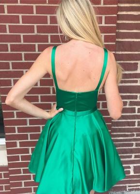 Sexy V-Neck Straps Homecoming Dress_2