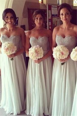 Chiffon A-line Floor-Length Mint Bridesmaid Dresses_2
