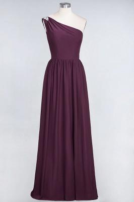 A-Line One-Shoulder Sleeveless Ruffles Floor-Length  Bridesmaid Dress with Beadings_1