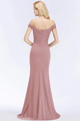 Green Elegant Lace Mermaid Off-The-Shoulder Bridesmaid Dresses_2