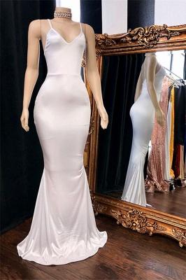 Sleek Spaghetti-Straps Burgundy Mermaid Prom Dresses_2
