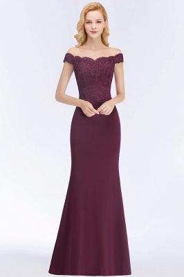 Green Elegant Lace Mermaid Off-The-Shoulder Bridesmaid Dresses_14