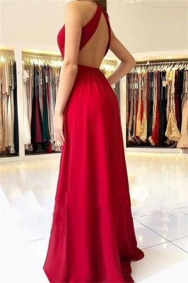 Sexy A-Line Sleeveless Open-Back Side-Slit Prom Dresses_2