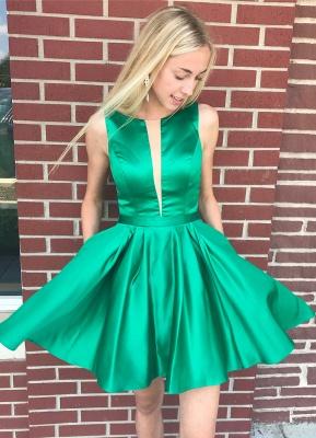 Sexy V-Neck Straps Homecoming Dress_1