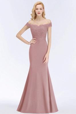 Green Elegant Lace Mermaid Off-The-Shoulder Bridesmaid Dresses_19