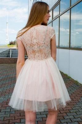 Illusion Lace Tulle Jewel Sleeveless Homecoming Dress_2