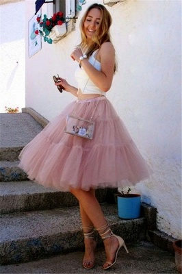 Sttlish Two-Pieces Tulle Sleeveless Homecoming Dress_1