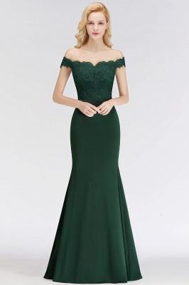 Green Elegant Lace Mermaid Off-The-Shoulder Bridesmaid Dresses_9