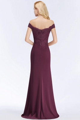 Green Elegant Lace Mermaid Off-The-Shoulder Bridesmaid Dresses_5