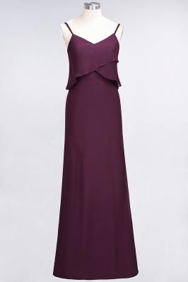 A-Line Spaghetti-Straps V-Neck Sleeveless Floor-Length  Bridesmaid Dress_1