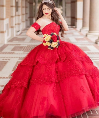 Excellent Strapless Sweetheart Ball Gown Quince Dresses | Appliques XV Dresses Long_1