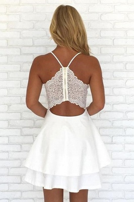 Chic Layers V-Neck Spaghetti-Straps Homecoming Dress_2