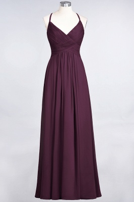 A-Line Spaghetti-Straps V-Neck Sleeveless Floor-Length  Bridesmaid Dress with Ruffles_19