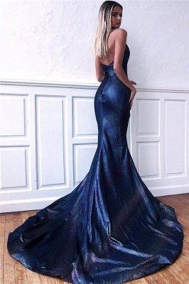 Chic Sequins Sleeveless V-Neck Backless Mermaid Prom Dress_2