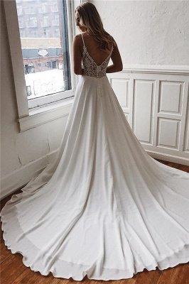 Alluring  Spaghetti-Straps V-Neck Backless Wedding Dresses_2
