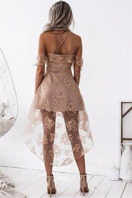 Dusty Pink Homecoming Dresses Ruffles Sheer Layer Short Prom Dresses_3