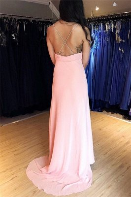 Sexy Spaghetti-Straps Mermaid Prom Dresses | Seductive Floor Length Red Evening Gowns_2