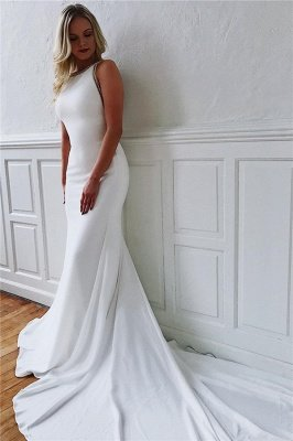 Dazzling Straps Sleeveless Mermaid Wedding Dresses_1