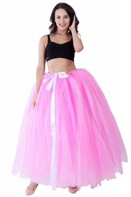 Fascinating Tulle Floor-Length Ball-Gown Skirts   Elastic Women's Skirts_2