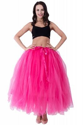 Fascinating Tulle Floor-Length Ball-Gown Skirts   Elastic Women's Skirts_6