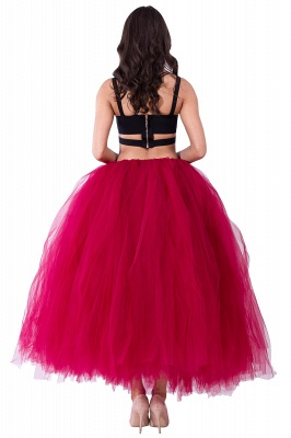 Fascinating Tulle Floor-Length Ball-Gown Skirts   Elastic Women's Skirts_7