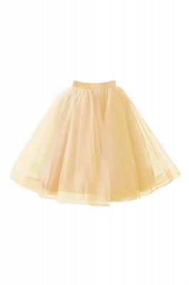 Alluring Tulle Short A-line Skirts   Elastic Women's Skirts_6