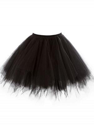 Charming Tulle Short A-line Mini Skirts | Elastic Women's Skirts_11