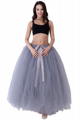 Fascinating Tulle Floor-Length Ball-Gown Skirts   Elastic Women's Skirts_15