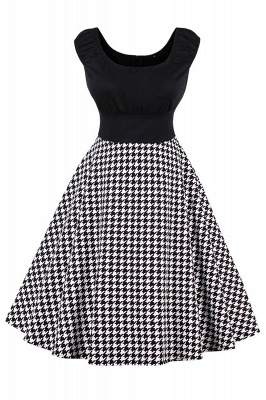 Wonderful Scoop Cap-Sleeves A-line Fashion Dresses | Knee-Length Women's Dresses_3