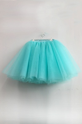 Amazing Tulle Short Mini Ball-Gown Skirts | Elastic Women's Skirts