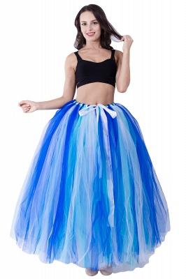 Fascinating Tulle Floor-Length Ball-Gown Skirts   Elastic Women's Skirts_1