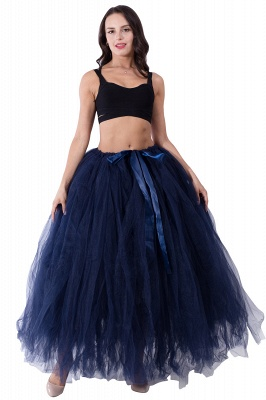 Fascinating Tulle Floor-Length Ball-Gown Skirts   Elastic Women's Skirts_13