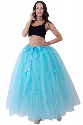 Fascinating Tulle Floor-Length Ball-Gown Skirts   Elastic Women's Skirts_10