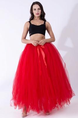 Fascinating Tulle Floor-Length Ball-Gown Skirts   Elastic Women's Skirts_5