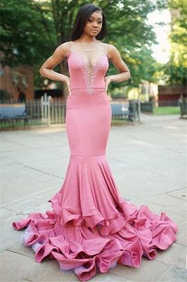 Sexy Mermaid Sleeveless Beading Long Prom Dress_1
