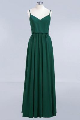 Dark-Green Chiffon A-Line Elegant Spaghetti-Straps Bridesmaid Dress_2