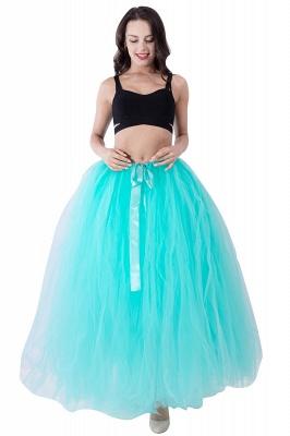 Fascinating Tulle Floor-Length Ball-Gown Skirts   Elastic Women's Skirts_17