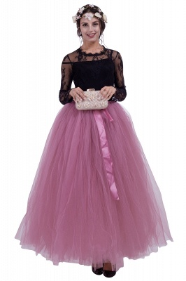 Fascinating Tulle Floor-Length Ball-Gown Skirts   Elastic Women's Skirts_4