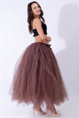 Fascinating Tulle Floor-Length Ball-Gown Skirts   Elastic Women's Skirts_8