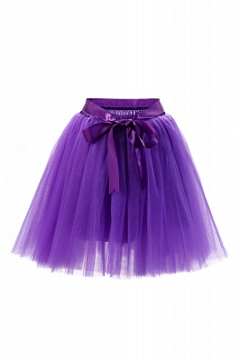 Amazing Tulle Short Mini Ball-Gown Skirts | Elastic Women's Skirts_17