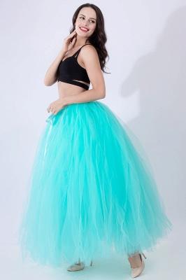 Fascinating Tulle Floor-Length Ball-Gown Skirts   Elastic Women's Skirts_23