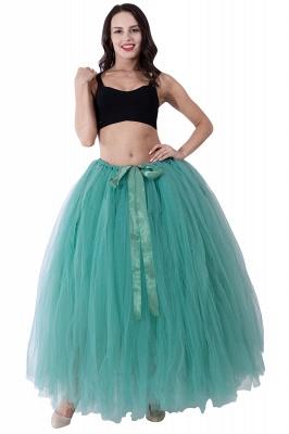 Fascinating Tulle Floor-Length Ball-Gown Skirts | Elastic Women's Skirts_17